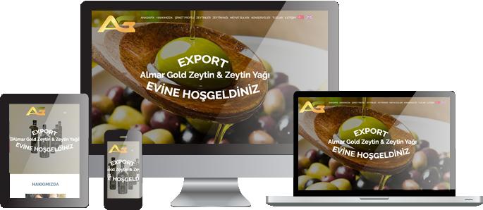Almar Zeytin ve Zeytinyağı Web Sitesi